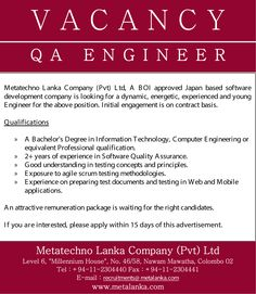 We seek candidate for QA Engineer position. You need a bachelor's degree in IT, Computer Engineering or equivalent professional qualification. Engineering Jobs, Computer Engineering, Young Engineers, Software Development, Career, Positivity, Technology, Tech, Carrera