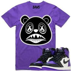 8c6964c75b OREO BAWS Purple Shirt - Jordan Retro 1 Court Purple Nike Air Jordans,  Jordans Sneakers