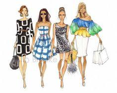 Fabulous Doodles-Fashion Illustration Blog-by Brooke Hagel: Halloween's Approaching