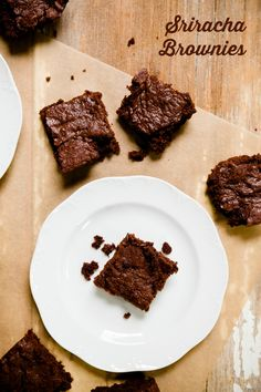 Zingy Sriracha Brownies - from Cupcake Project
