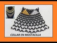 COLLAR EN MOSTACILLA//chaquira, pulseras, aretes - YouTube