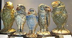 A fortune in Wally Birds here The Martins Brothers never earned much more that labourers RIP you left a great legacy click the image for more details. Ceramic Birds, Ceramic Art, Pottery Designs, Pottery Art, Martin Brothers, Expensive Art, Colorful Plants, Picture Hangers, Vintage Pottery