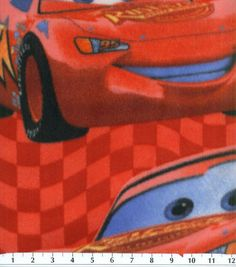 Disney Cars Packed Mcqueen Fleece Fabric  Fabric for curtains or sheets