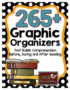 On sale now! The 265 Graphic Organizers That Builds Comprehension Before, During and After Reading