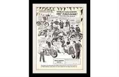 "1962 Harley Davidson Motorcycle Ad ""FUN-O-RAMA"" Vintage Advertisement Print"