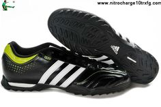 Buy Discount Adidas Questra 11Pro TRX TF - Black-White-Slime Soccer Shoes On Sale