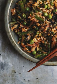 Spring Veggie Fried Rice with Ramps + Kimchi