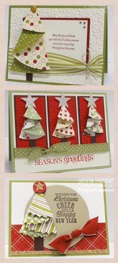 Nov 13 2013 Updated Folded Christmas Tree | step-by-step instrux in blog posts. | template: http://inkspiredtreasures.com/wp-content/uploads/Folded%20Tree%20Diagram2(1).pdf