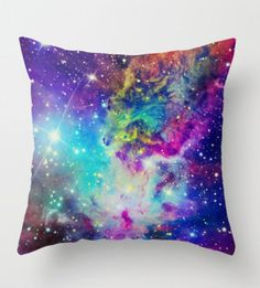 Galaxy print pillow! would look great in my room! <3