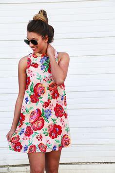 California Roses Tank Dress – The Rage
