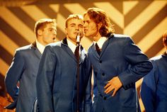 Gary Barlow and Take That performing some years back