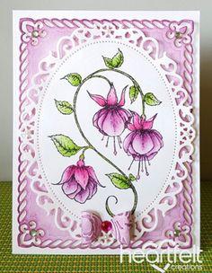 Heartfelt Creations | Cascading Fuchsia Oval