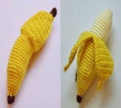 Peelable Banana Crochet Play Food Pattern  Softie by PiscesCrochet, $3.00 Waldorf Ecofriendly Toy!