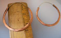 Handmade Copper Earrings Tribal Earrings Ethnic por rebeccasanchez