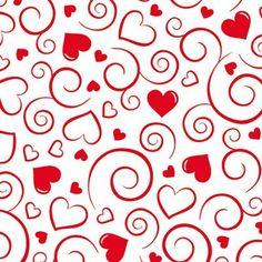 Transfers corazones rojo (2 hojas)