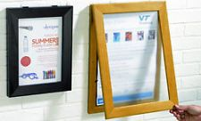 A3 WOODEN MENU DISPLAY CASE POSTER SIGN HOLDER - WALL OR DOOR MOUNTED FREE P&P