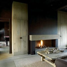 large sleeper  / hunk of wood as mantlepiece