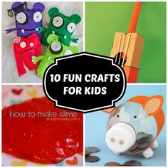 10 Fun Crafts For Kids | Boredom Busters | Just Short of Crazy  #BHGSummer