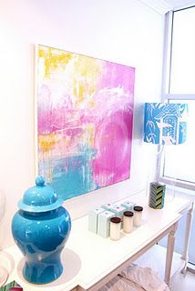 'Sway III'  Mixed media on canvas  in situ at Rylo Interiors