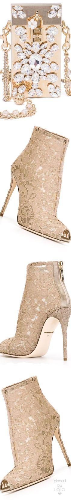 Dolce&Gabbana Mini Crystal-Embellished Metallic Chain Bag | LOLO❤︎