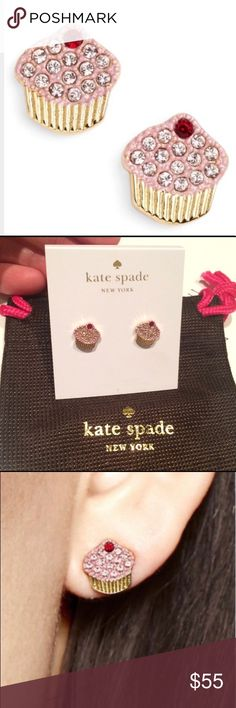 "Kate Spade Things We Love Cupcake Earrings ""RARE!"" Kate Spade Things We Love Cupcake Earrings New w/Kate Spade Jewelry Dust Bag ""Rare & HTF!"" Adorable!💕Snag These Up Before Someone Else Does! For the true Kate Spade Collector!  14k gold plated so safe for any ears even sensitive ones like mine! ⭐️Price Is Firm!⭐️ 🚨Remember Posh takes 20%!! 🚨 You can always Bundle & Save!💸 kate spade Jewelry Earrings"