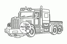 Real Fire Truck Scania coloring page for kids