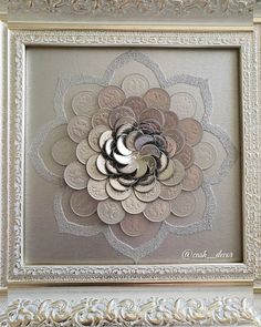 Diy Home Decor Projects, Diy Home Crafts, Diy Arts And Crafts, Art Projects, Art Diy, Art N Craft, 3d Animation Wallpaper, Coin Crafts, Clay Wall Art