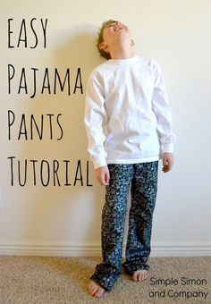 How to make a Pajama Pants PATTERN from Jeans-An EASY Tutorial - Simple Simon and Company