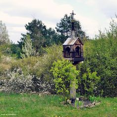 Old shrine in Ethnographic Park in Tokarnia, Poland. This place is truly magical, reminds me of The Outskirts of Vizima from The Witcher game ;)  #poland #tokarnia #kielce #crossroads #countryside #landscape #village #beautiful #place #travel #destination #meadow #trip #real #witcher #location #outskirts