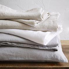 Belgian Linen Sheet Set, $259
