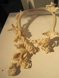Jennifer Trask's found bone, horn, ivory necklaces