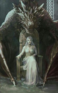 Game of thrones fanart. Daenerys Targaryen, mother of dragons - Game of Thrones Art Game Of Thrones, Dessin Game Of Thrones, Game Of Thrones Dragons, Drogon Game Of Thrones, Medieval Combat, Fantasy Kunst, Dark Fantasy Art, Mother Of Dragons, Queen Of Dragons