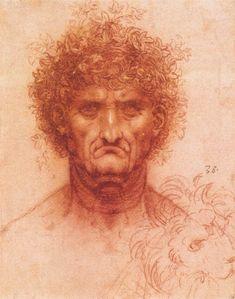 Leonardo da Vinci - Head of a Warriorr