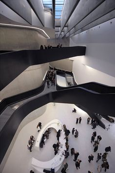 Zaha Hadid's new museum for 21st-century art  in Rome's Flaminio district, featuring the stairway to the future.
