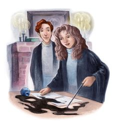 Girl Museum Blogspace: Inspirational Girls: Hermione Granger (Illustration by Mary GrandPre)