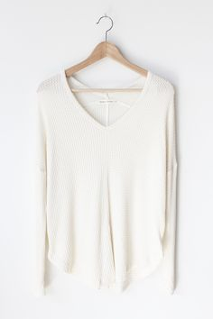 """- Details - Size - Shipping - • 95% Rayon 5% Spandex • Soft loose fit waffle knit top • Hand Wash • Line dry • Made in the U.S.A • Measured from small • Length 25"""" • Chest 25"""" • Waist 22"""" - Free domes"""