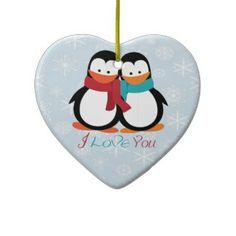 Christmas Penguins Christmas Tree Ornament