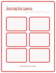Free Journaling Labels! Just Click on the website from where this came from......