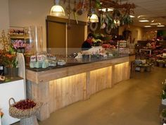 Toonbank steigerhout, steigerhouten bar , balie , inrichting