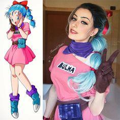 Bulma 🛸 From Dragon Ball 🐉 Bulma Costume, Bulma Cosplay, Cosplay Anime, Cute Cosplay, Amazing Cosplay, Cosplay Outfits, Best Cosplay, Cosplay Wigs, Kawaii Cosplay