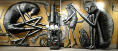 """Streetart: Phlegm """"The Bestiary"""" @ London's Howard Griffin Gallery (12 Pictures)"""