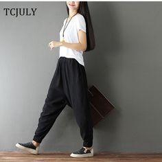 3b1028d280c Click Image to Buy  TCJULY 2018 Fashion Plus Size Cotton Linen