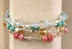 I LOVE making beaded stuff.  These little bracelets are fun and easy to make.