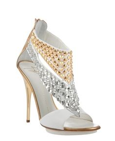 GIUSEPPE ZANOTTI Studded Leather Sandals