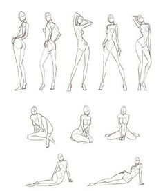 How to draw feminine body figures and anatomy