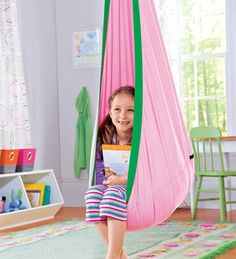 Hugglepod, Children's Canvas Hanging Chair - A canvas hanging chair tucked in a corner of the room would be every kid's dream reading nook.