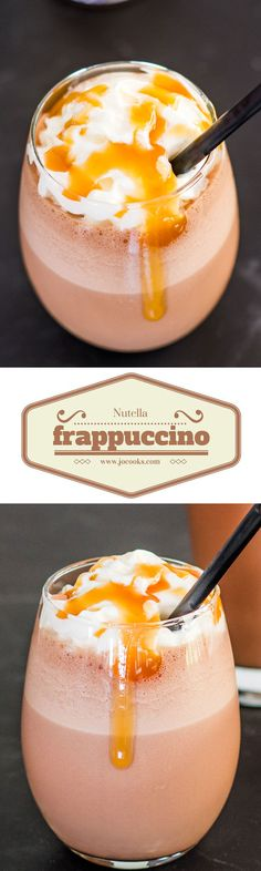 Homemade Nutella Frappuccino – the be-all end-all of desserts! The Holy Grail of Frappuccinos!