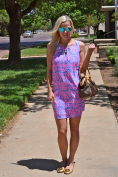 Love our Neon Dress on Miss Courtney! Pink & Blue Vision | Courtney & Confetti