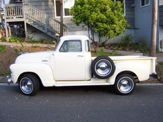 1950s White Pick-Up