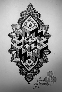 , – Amazing tattoo patterns and designs Dotwork Tattoo Mandala, Geometric Mandala Tattoo, Sacred Geometry Tattoo, Geometric Tattoo Design, Mandala Artwork, Mandala Tattoo Design, Geometric Art, Tattoo Designs, Dot Tattoos